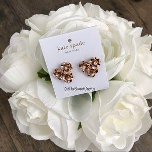 Kate Spade Shine On Flower Cluster Rose Earrings